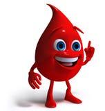 Het bloed laat vallen 3d karakter Royalty-vrije Stock Afbeeldingen