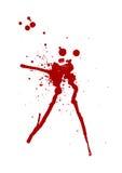 Het bloed ploetert Stock Afbeeldingen