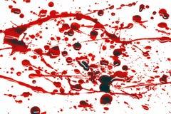 Het bloed ploetert Stock Fotografie