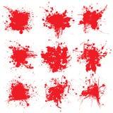 Het bloed splat verzamelt Stock Afbeeldingen