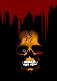 Het bloed van de schedel Royalty-vrije Stock Afbeelding