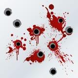 Het bloed van het revolverschot ploetert achtergrond Stock Foto's