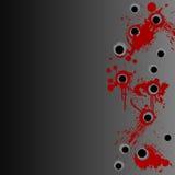 Het bloed van het revolverschot ploetert grensachtergrond stock illustratie