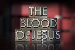 Het Bloed van Jesus Letterpress Royalty-vrije Stock Afbeelding
