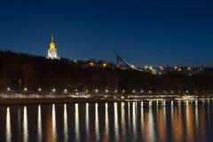 Het Bloederige park van Vorobyovy in Moskou Stock Foto