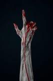 Het bloedige demon van de handzombie Stock Afbeeldingen