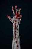 Het bloedige demon van de handzombie Royalty-vrije Stock Fotografie