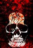 Het bloedillustratie van de schedel Royalty-vrije Stock Afbeeldingen
