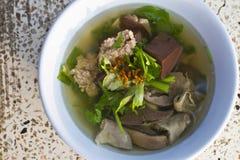 Het bloedsoep van het varkensvlees in Thailand Royalty-vrije Stock Foto