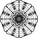 Het bloeien hided ogen met de bloesemmandala van de bloemblaadjekers stock illustratie