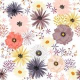 Het bloeiende naadloze patroon van de Vrijheidsbloem, Zachte in in mi Stock Foto's