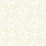 Het bloemen beige herhaalt Royalty-vrije Stock Afbeeldingen