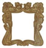 Het bloemen frame van de de stijlgrens van de Jugendstil Stock Afbeelding