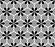 Het bloemen geometrische naadloze patroon, vat zwart-wit textuur samen Royalty-vrije Stock Afbeelding