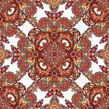 Het bloemen geometrische patroon oriënteert mandalaornament Stock Afbeelding