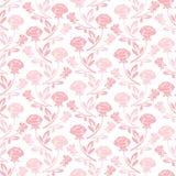 Het bloemen naadloze patroon met nam in pastelkleurtonen toe Royalty-vrije Stock Fotografie