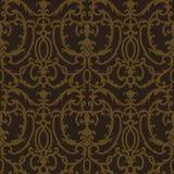 Het bloemen naadloze patroon van de damastdistel Stock Afbeeldingen