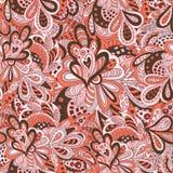 Het bloemen naadloze patroon van de krabbel Royalty-vrije Stock Afbeelding