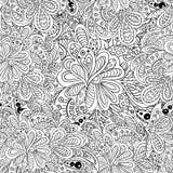 Het bloemen naadloze patroon van de krabbel Stock Foto