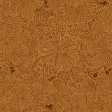 Het bloemen naadloze patroon van de krabbel Royalty-vrije Stock Fotografie
