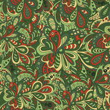 Het bloemen naadloze patroon van de krabbel Royalty-vrije Stock Afbeeldingen