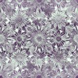 Het bloemen Naadloze Patroon van de Tekeningscollage Stock Fotografie