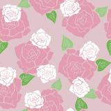 Het bloemen naadloze patroon van het rozenbehang Royalty-vrije Stock Afbeeldingen