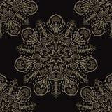Het bloemen Naadloze Vectorpatroon van Boho Arabesque Mandalas vector illustratie
