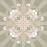 Het bloemen ontwerpoosten, lotusbloem Stock Afbeelding
