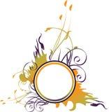 Het bloemen ronde frame van Grunge Royalty-vrije Stock Afbeeldingen