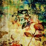 Het bloemen uitstekende document van de kunst Stock Afbeeldingen