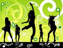 Het bloemen vrouwen dansen Stock Fotografie