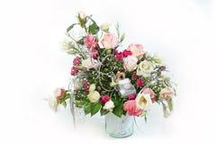 het bloemenboeket van de 25ste huwelijksverjaardag Stock Fotografie
