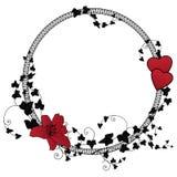 Het bloemenframe van de valentijnskaart Royalty-vrije Stock Foto's