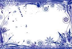 Het bloemenframe van de winter grunge Royalty-vrije Stock Afbeeldingen