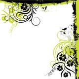 Het bloemenframe van Grunge, vector Royalty-vrije Stock Foto