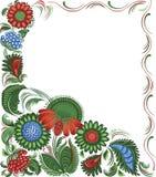 Het bloemenframe van het decor stock illustratie