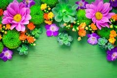 Het bloemenmodel van de groetkaart Stock Afbeelding