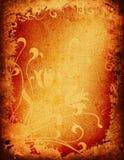 Het bloemenontwerp van Grunge Stock Afbeelding
