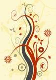 Het bloemenontwerp van Grunge Royalty-vrije Stock Afbeelding