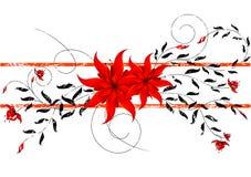 Het bloemenontwerp van Grunge Stock Afbeeldingen