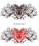 Het bloemenontwerp van het hart vector illustratie