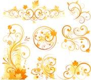Het bloemenornament van de herfst Stock Fotografie