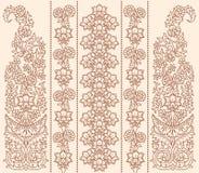 Het bloemenornament van het oosten Royalty-vrije Stock Afbeelding