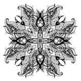 Het bloemenornament van Paisley Etnische decoratieve elementen Hand Getrokken Achtergrond Stock Afbeelding