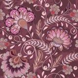 Het bloemenpatroon bloeit betegelde oosterse etnische achtergrond Royalty-vrije Stock Foto