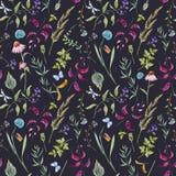 Het bloemenpatroon van de waterverflente Royalty-vrije Stock Afbeeldingen