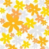 Het bloemenpatroon van de zomer Stock Foto