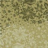 Het bloemenpatroon van Grunge met bloemen Stock Foto
