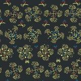 Het bloemenpatroon van krullijnen Royalty-vrije Stock Afbeelding